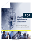 Selected Welding Application in Offshore Industry