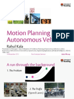 Motion Planning of Autonomous Vehicles in a Non-Autonomous Vehicle Environment without Speed Lanes,