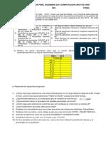 Examen Final Excel Noviembre 2013 Computacion Uno