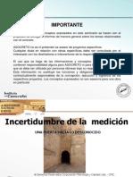 Incertidumbre Incertidumbre en La Medicion