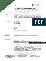 EC.01.PL.000 GESTIÓN GENERAL DE MANTENIEMIENTO DE VEHICULOS Y EQUIPOS