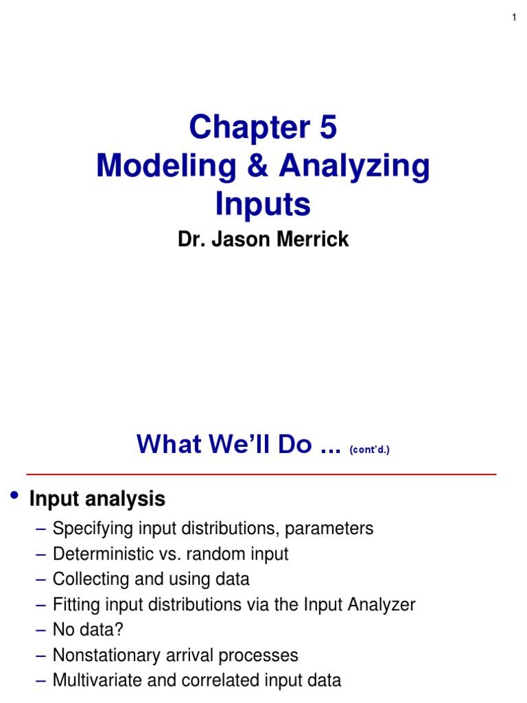 Input analysisppt computer simulation probability distribution ccuart Gallery