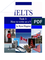Ielts Task 2 How to Write at a 9 Level