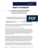 Cutler Property Tax Relief Plan