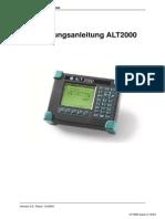 ALT2000 User Guide German Iss 3
