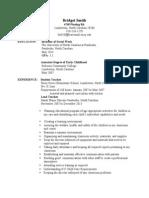 bridget smith resume 1