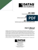 Manual Dataq DI 148U DI 148U SP DI158 Series