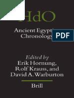 Hornung E. Ancient Egyptian Chronology Handbook of Oriental Studies