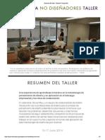 """Resumen del taller - Massive Change Red"""