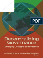 Decentralizing Government Rondinelli
