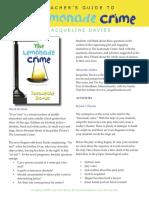 Lemonade Crime Teachers Guide