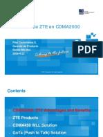 Solución de ZTE en CDMA2000 ó