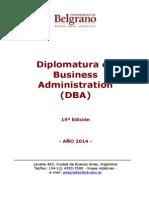 DBA Diplomatura en Business Administration UB 2014