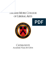 Thomas More College Catalogue 2013-14