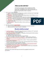 Cold War  Revision Booklet
