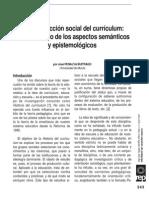 La Construccion Social Del Curriculo. 1
