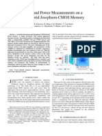 Latency and Power Measurements on a 64-Kb Hybrid Josephson-CMOS Memory