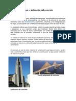 Usos y  aplicación del concreto