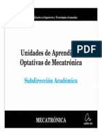 Presentacion Unidades de Aprendizaje Optativas de Mecatronica.p