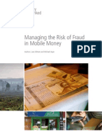 2012 MMU Managing the Risk of Fraud in Mobile Money