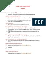 Biology Exam Checklist