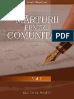 Marturii Pentru Comunitate Vol.9