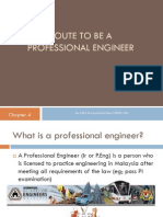 4f Route to Be a Professional Engineer