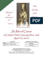 St, Rita Parish Bulletin 4/13/2014