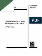 COVENIN 623-97 Código Nacional para ascensores de carga