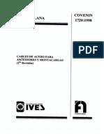 COVENIN 1720-98 Cables de Acero Para Ascensores