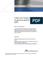Modele Cahier Des Charges ERP