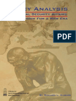 Policy Analysis in National Security Affairs