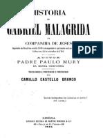 Historia de Gabriel Malagrida da Companhia de Jesus e a Inquisição