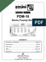 Gemini Mod. Pdm-16 Mixer