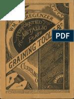 Wm. J. Bregenzer Perforated Metallic Graining Tools & co.