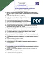 Cuestionario METABOLISMO MITOCONDRIAL