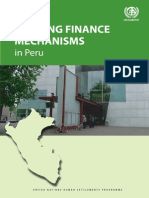 Housing Finance Mechanisms in Peru