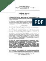 Acuerdo No. 006 de 2014, Administración Municipal de Caloto, Cauca
