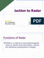 Introduction to Radar
