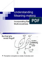 Understanding Meaning Making