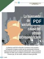 La búsqueda de utopías sociales como causa del atraso latinoamericano