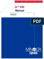Konica Minolta QMS Magicolor 330 Service Manual