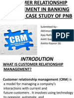 Customer Relationship Management in Banking Sector-A Case Study of Pnb