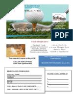 2014 Golf Tournament Flyer