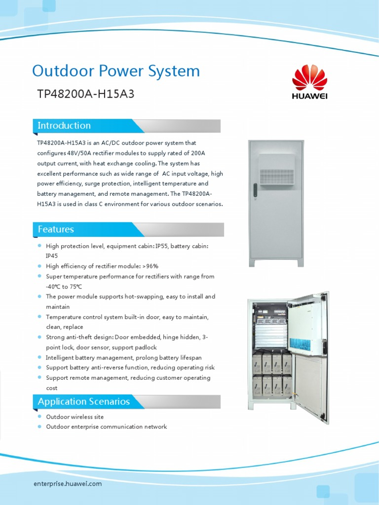 HUAWEI TP48200A Outdoor Power System | Rectifier | Electric