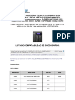 Lista de Discos Duros Compatibles en Equipo Nvr Qnap
