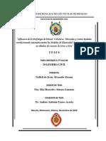 INFLUENCIA DE LA MORFOLOGÍA DE PÉTREOS VOLCÁNICOS, TRITURADO