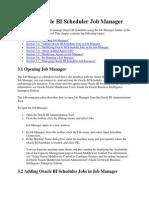 Using Oracle BI Scheduler Job Manager