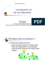 An Introduction on Ad-Hoc Networks