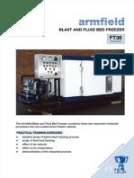 Armfield Blast and Fluid Bed Freezer Ficha Tecnica